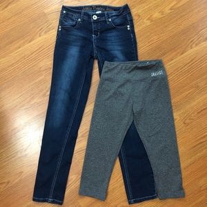 Justice jeans & capri leggings size 10